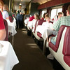 Blurry picture in the dining car