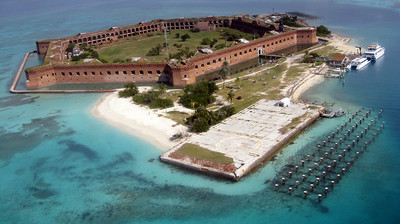 View of Fort Jefferson from 500 feet - Dry Tortugas National Park