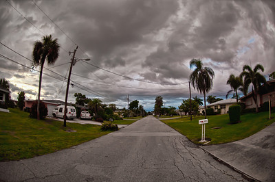 Storm clouds gather over Cape Coral in early July