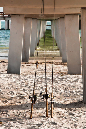 Under the pier at Ft Myers Beach