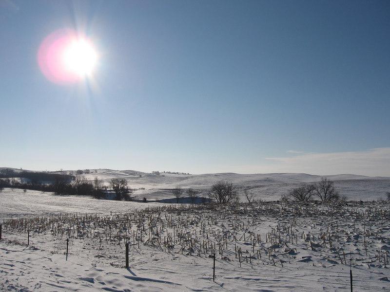 Snowy hills and Silver Creek.<br /> Feb 2007