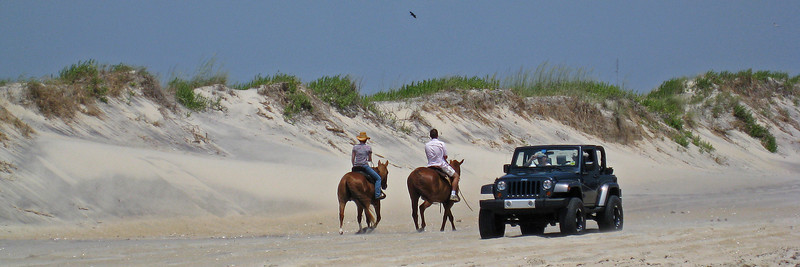 Horse power vs. HORSE POWER at Oregon Inlet, Outer Banks, NC