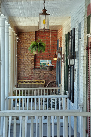 Row house front porches - quite charming