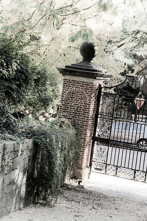 The rear gate at Dumbarton Oaks