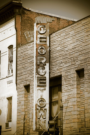 I came across this old Georgetown sign on Wisconsin Avenue, and it seemed so incongruous with all the fancy shops, restaurants and boutiques it was surrounded by that I just had to capture an image of it.