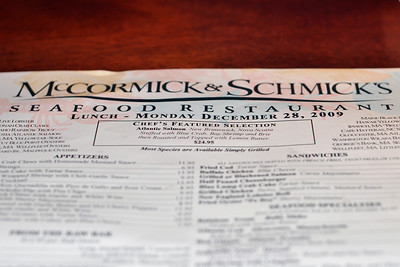 Had to have dinner at McCormick & Schmick's