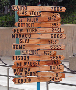 Mile markers from Redondo Beach