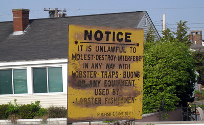 Don't mess with the lobster fishermen in New England or they'll open up a can of whoop ass on you
