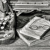 Antique Typewriter and Books