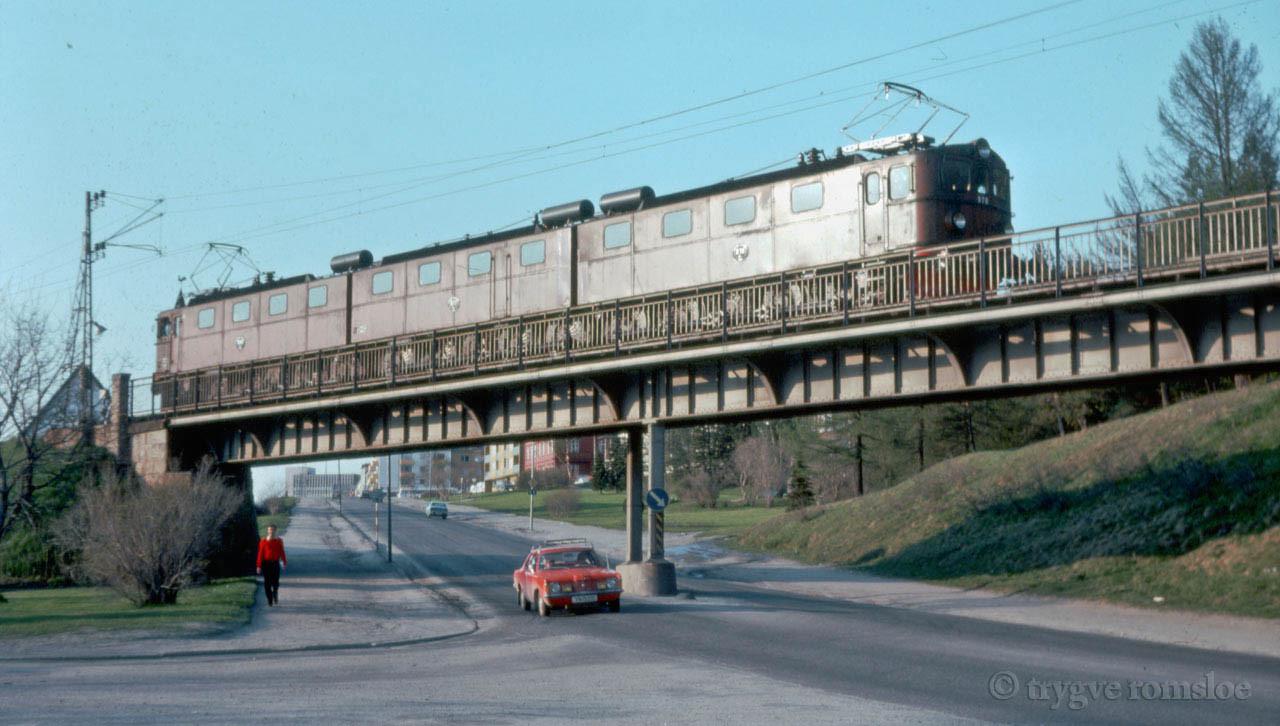 SJ Dm3 Railroad bridge Sjoebakken Narvik date unknown by Trygve Romsloe sen.