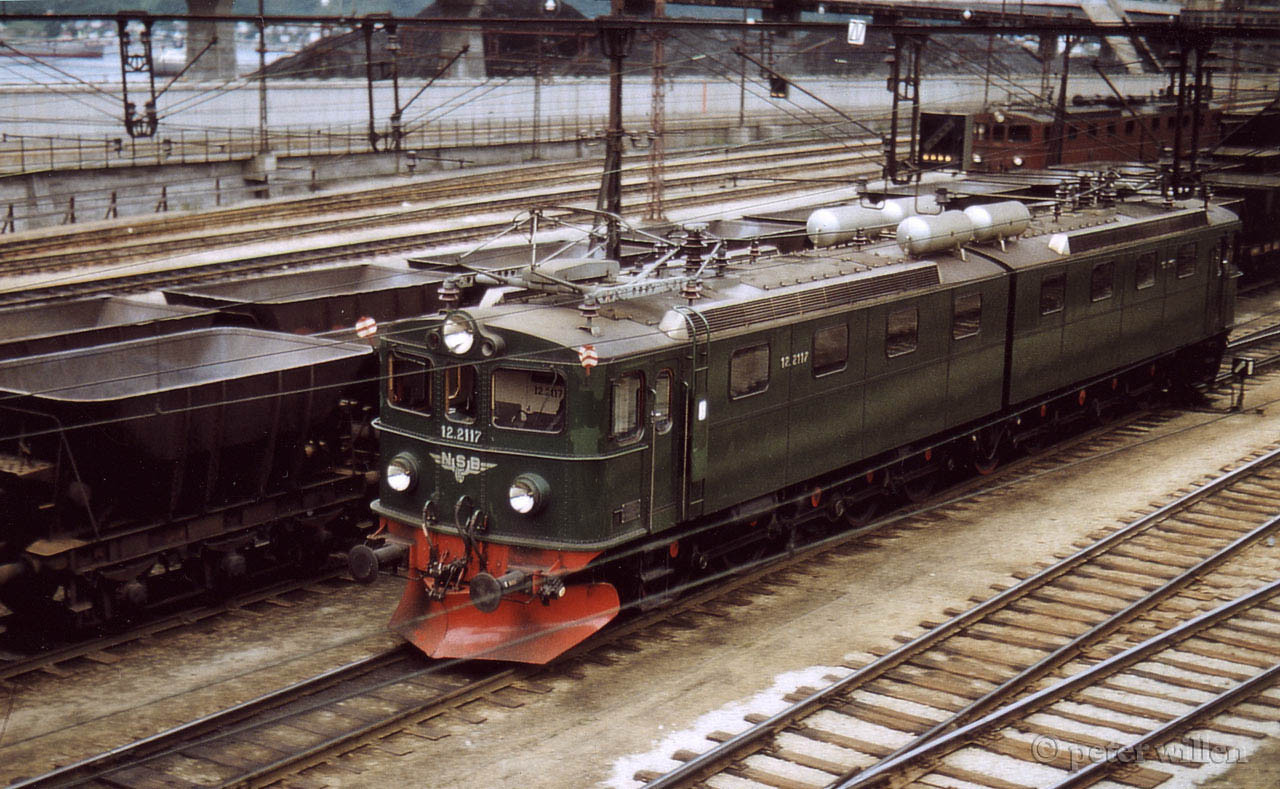 NSB El 12 2117+2118 Mas Narvik Ore Harbour ca 1960 by Peter Willen