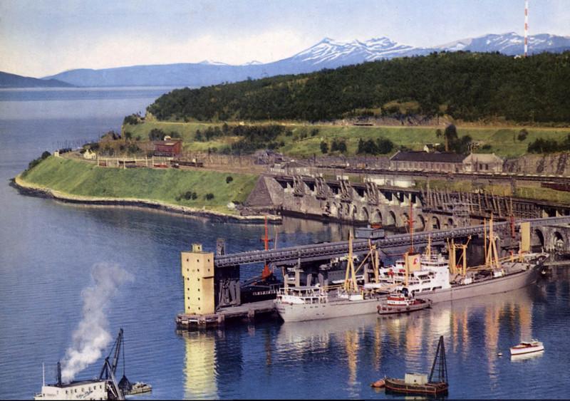 Narvik Ore Harbour ca 1960 Postcard
