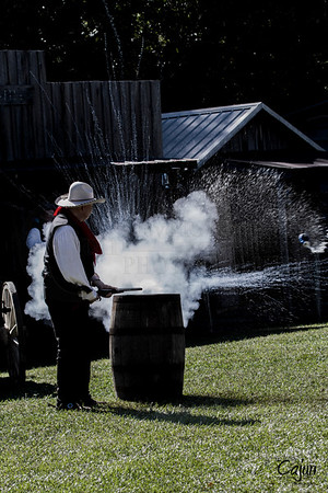 """13th Annual Ole Timey Craft & Bluegrass Festival in Estillfork, Alabama on September 27th thru the 29th of 2013. The Gunfight was performed by The Riverchase Posse """"An Old West Living History Re-Enactment Troop"""".  Photography By: The Cajun, Lloyd R. Kenney III ©2013 All Rights Reserved. Email: lloydkenneyiii@gmail.com"""