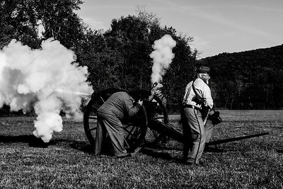 """Civil War Demo - 13th Annual Ole Timey Craft & Bluegrass Festival in Estillfork, Alabama on September 27th thru the 29th of 2013. The Gunfight was performed by The Riverchase Posse """"An Old West Living History Re-Enactment Troop"""".  Photography By: The Cajun, Lloyd R. Kenney III ©2013 All Rights Reserved. Email: lloydkenneyiii@gmail.com"""