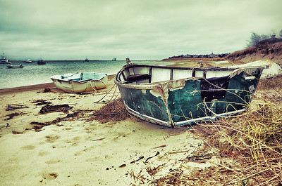 old green boat