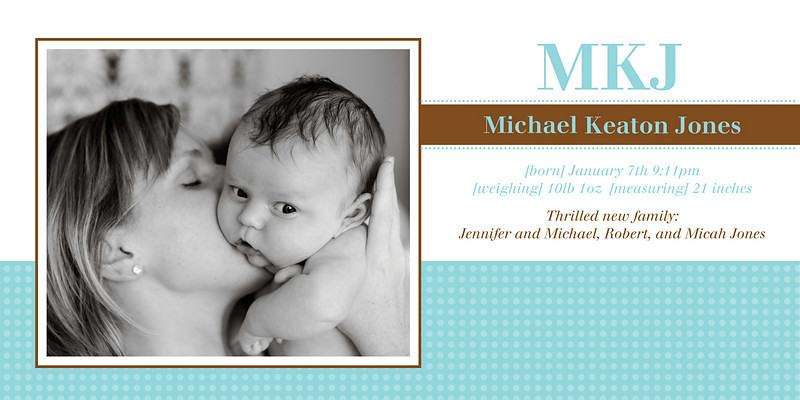 Michael-<br /> 4 x 8 Photo Cards with envelopes