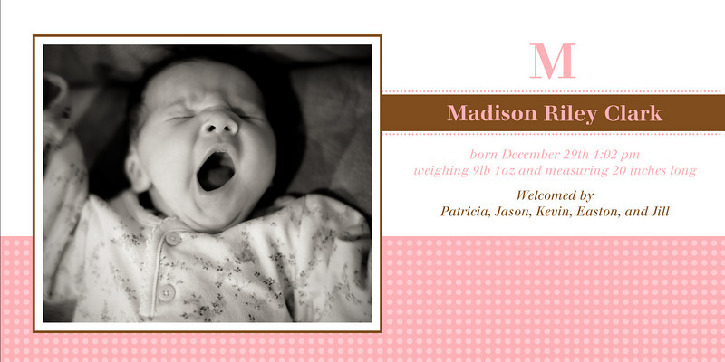 Madison-<br /> 4 x 8 Photo Cards with envelopes