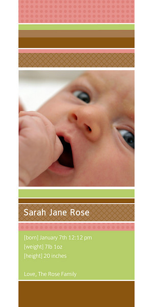 Sarah-<br /> 4 x 8 Photo Cards with envelopes