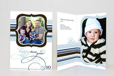 5x7 Folded Holiday Card-003 1 Cover Photo / 1 Inside Photo
