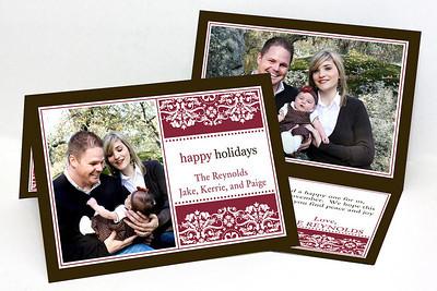 5x7 Folded Holiday Card-007 1 Cover Photo / 1 Inside Photo