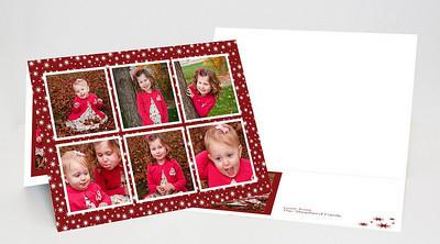 5x7 Folded Holiday Card-005 6 Cover Photos / 1 Inside Photo