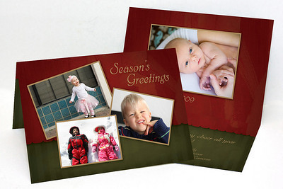 5x7 Folded Holiday Card-002 3 Cover Photos / 1 Inside Photo