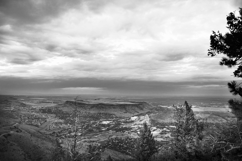 The view from Buffalo Bill's Grave Site. Golden, Colorado