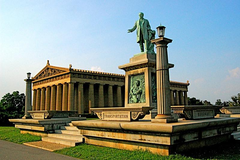 Vanderbilt Statue and The Parthenon