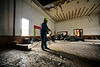 An inside look at the old YMCA building at 66 Atchison Street, in Bellows Falls, Vt, during a tour of the building by members of the Rockingham Historic Preservation Commission on Monday, Oct. 11, 2021.