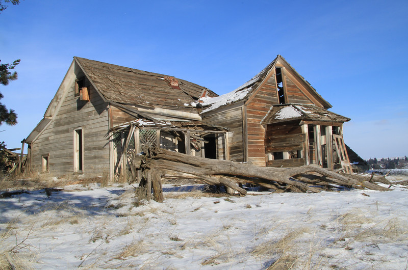 Collapsing farm house.