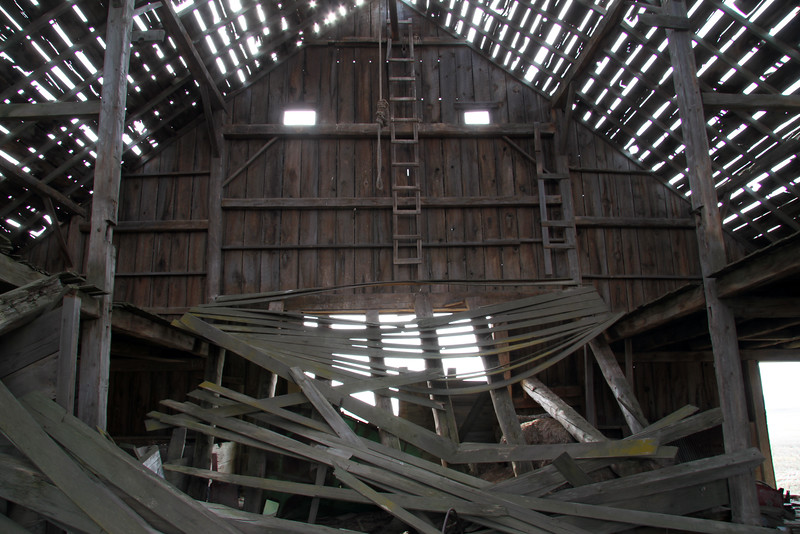 Barn with missing roof