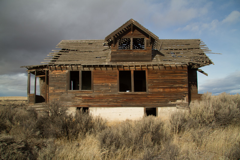 Weathered farm house.