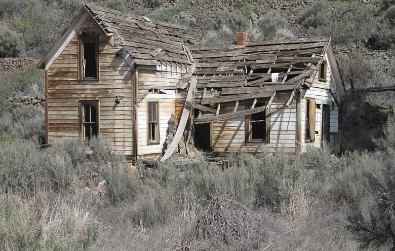 Neglected rural farm house.