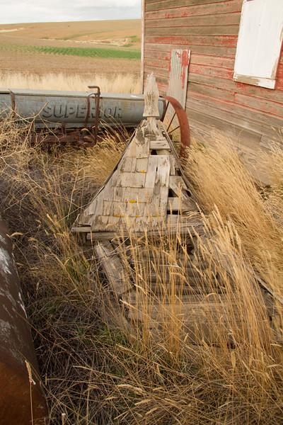 Fallen barn steeple