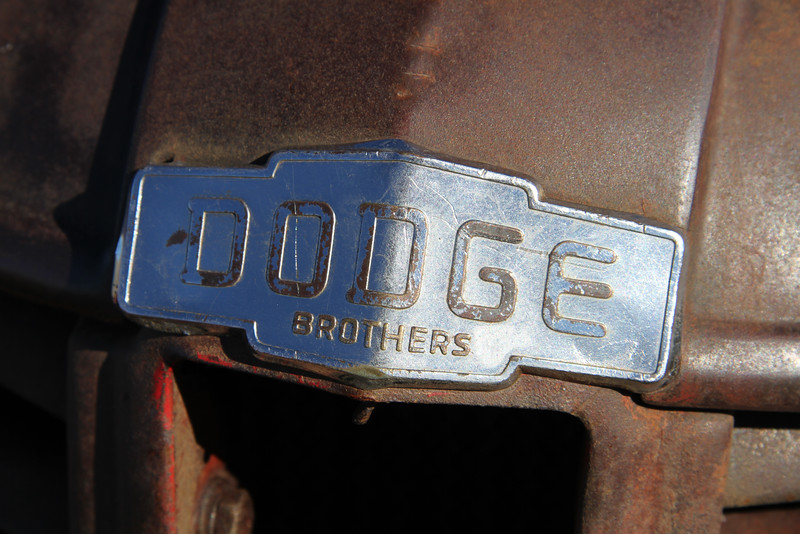 Dodge brother emeblem close up