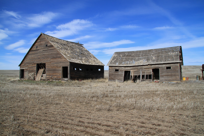 Barns forgotten in time.