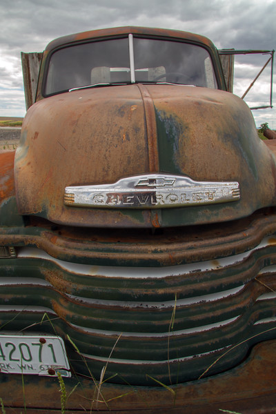 Rusting Chevrolet wheat truck