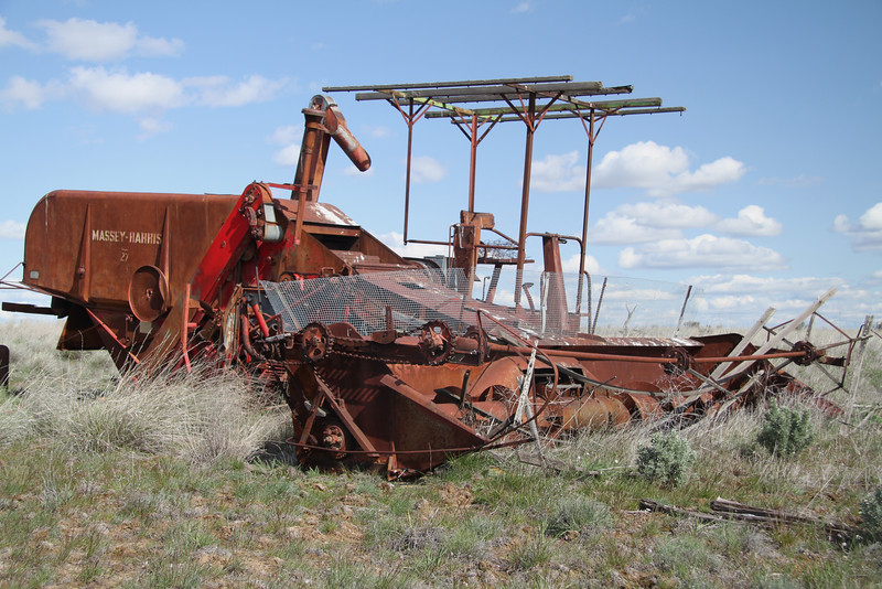 Rusted Massey Harris super 27 combine