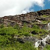 One of many waterfalls on the way to Grinnell Glacier.