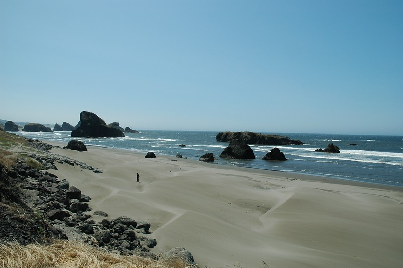 Another beach, this one sunnier, along the Oregon coast.