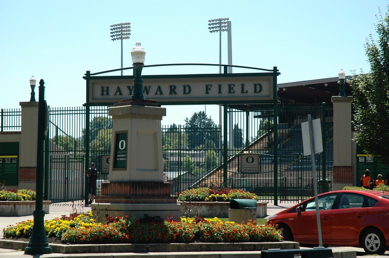 As we headed inland, we decided to make the requisite stop for runners: Hayward Field at the University of Oregon in Eugene.