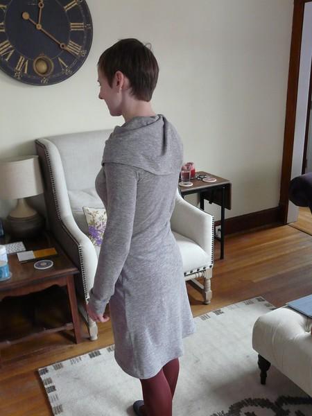 A modified cowl-neck Renfrew dress.