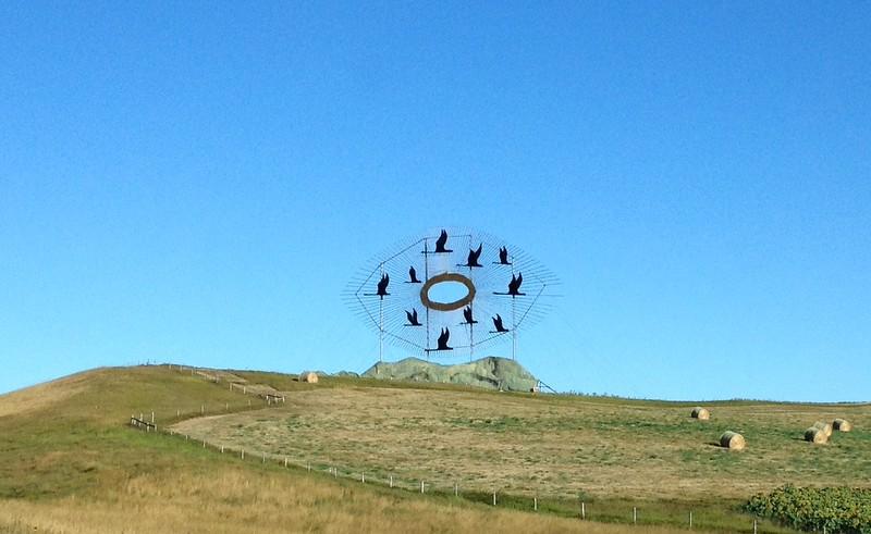 """Geese in Flight"" along Interstate 94."