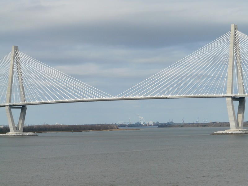The Cooper River bridge.