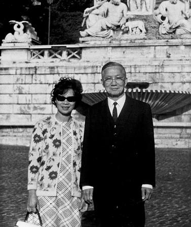 grandpa and grandma chan in italy 1970