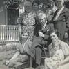 Aunt Annie Boyd, Vera A, Minnie, Grandma Markell, Grandpa Markell, Vera,<br /> Mollie Hamilton holding daughter Evelyn Hamilton.