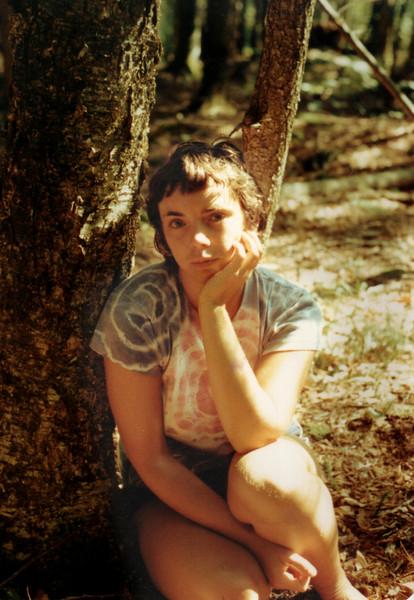 Cynthia Grady 1978, Mount Chocorua NH. I stayed here alone for 1 week without food.