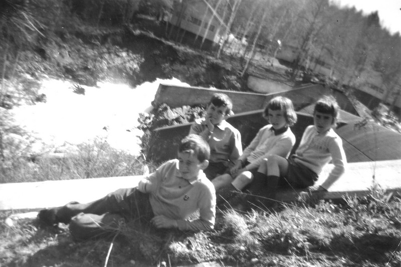 Picnic at Horace lake, Weare NH 1958