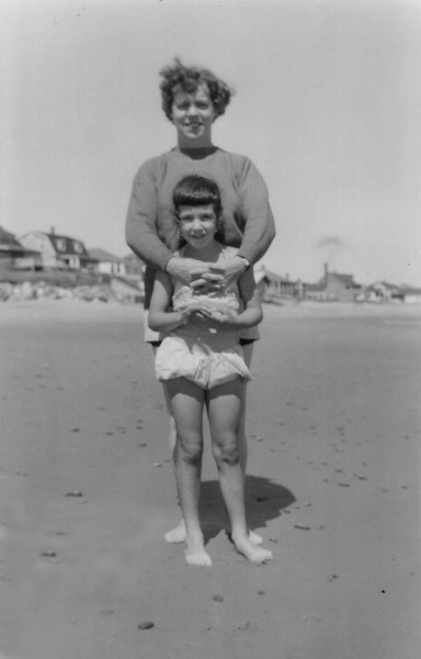 Sheila Grady & Ellen MacKeon Hampton Beach NH 1960
