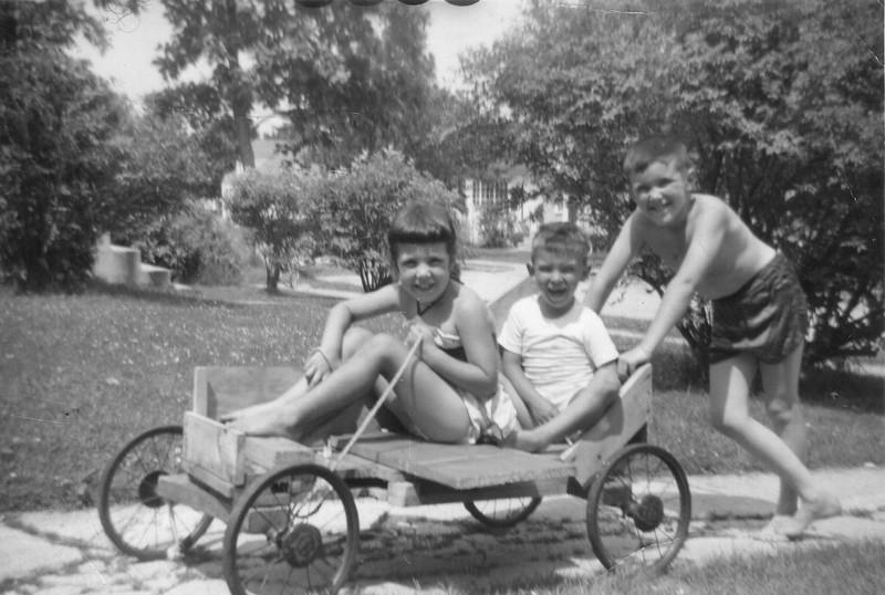 Sheila Grady, Donald Przybyla , Jimmy Grady, Sunnyside Street Manchester NH Aug 1957